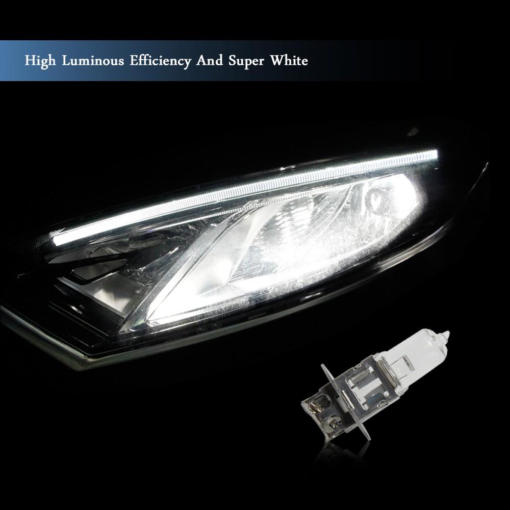 H3 Alogena faro auto faro lampadina lampada 12V 55W bianco 3000k   Tomtop com -> Lampade A Led Formato Alogena