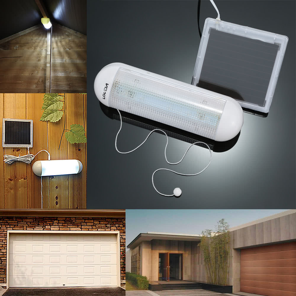 Lixada 5 LED Ultra Bright Outdoor Solar Powered Wall Light Shed Sale Online  Shopping White   Tomtop.com