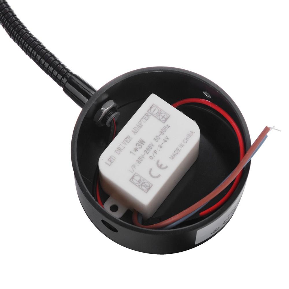 Lampada da comodino in LED lettura Lampade tubo morbido bianco caldo nero   Tomtop com -> Lampade A Led Rs