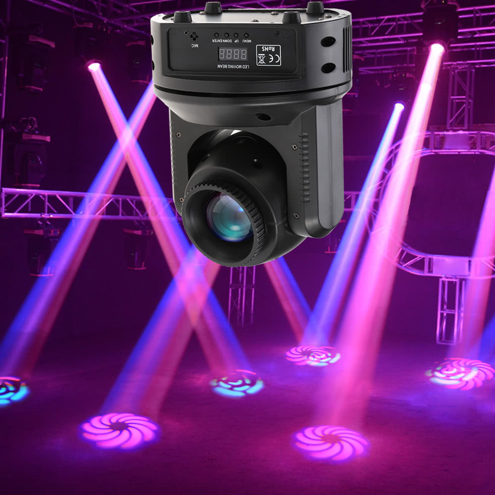 $135.92 for 60W RGBW 11/16 Channel 12 Gobo Pattern Head Moving Stage Light,free shipping