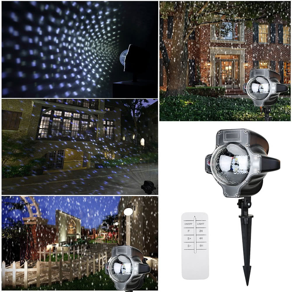 $7 OFF LED Snowflake Projector Lights,free shipping $32.99