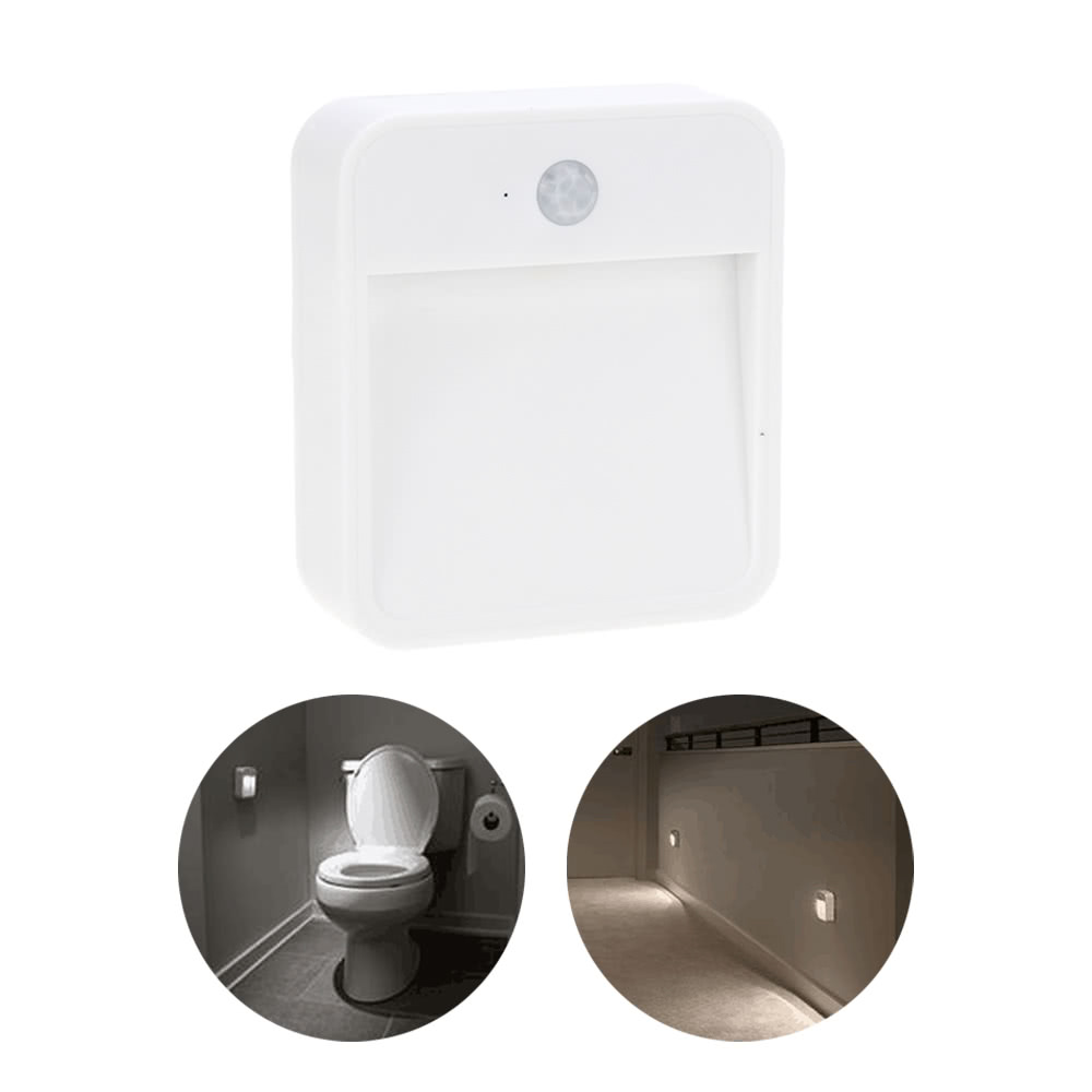 Battery Powered Motion Sensor Led Light Portable Wide Angled