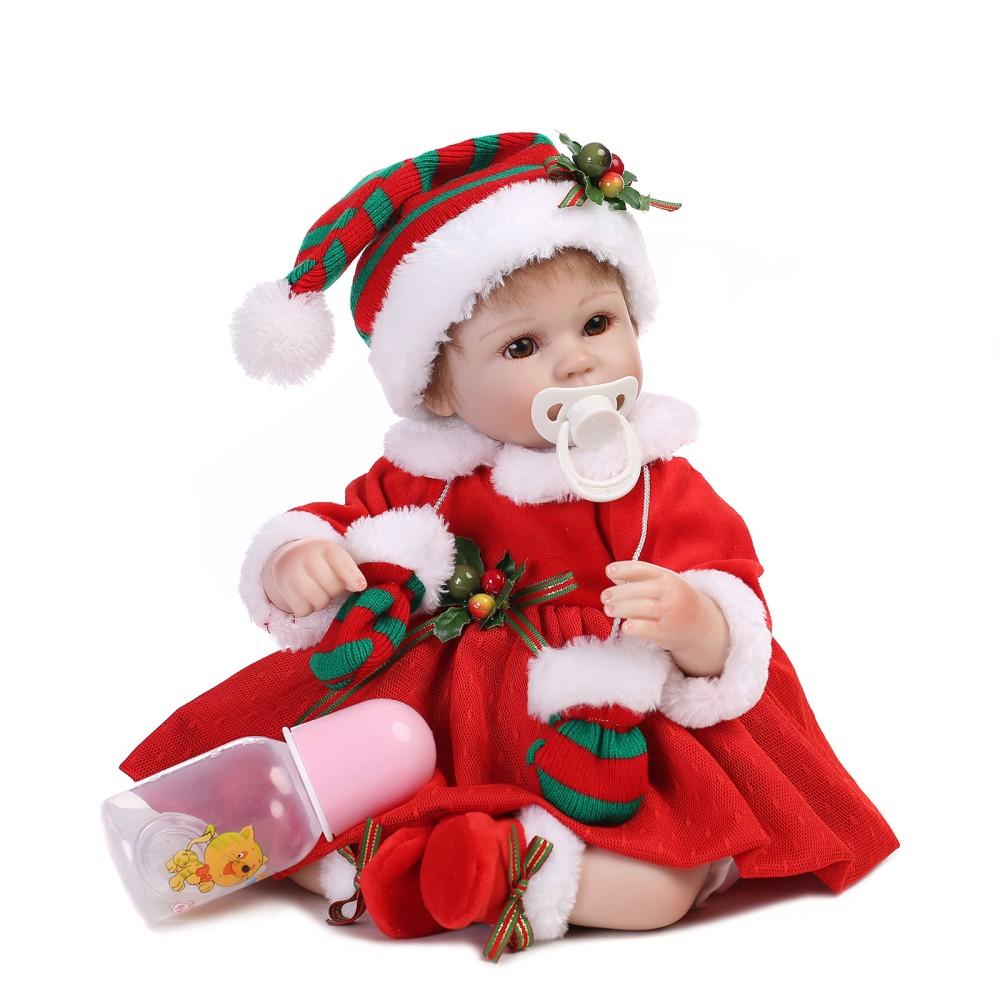 16inch 41cm Silicone Reborn Baby Doll Christmas Baby Doll Girl