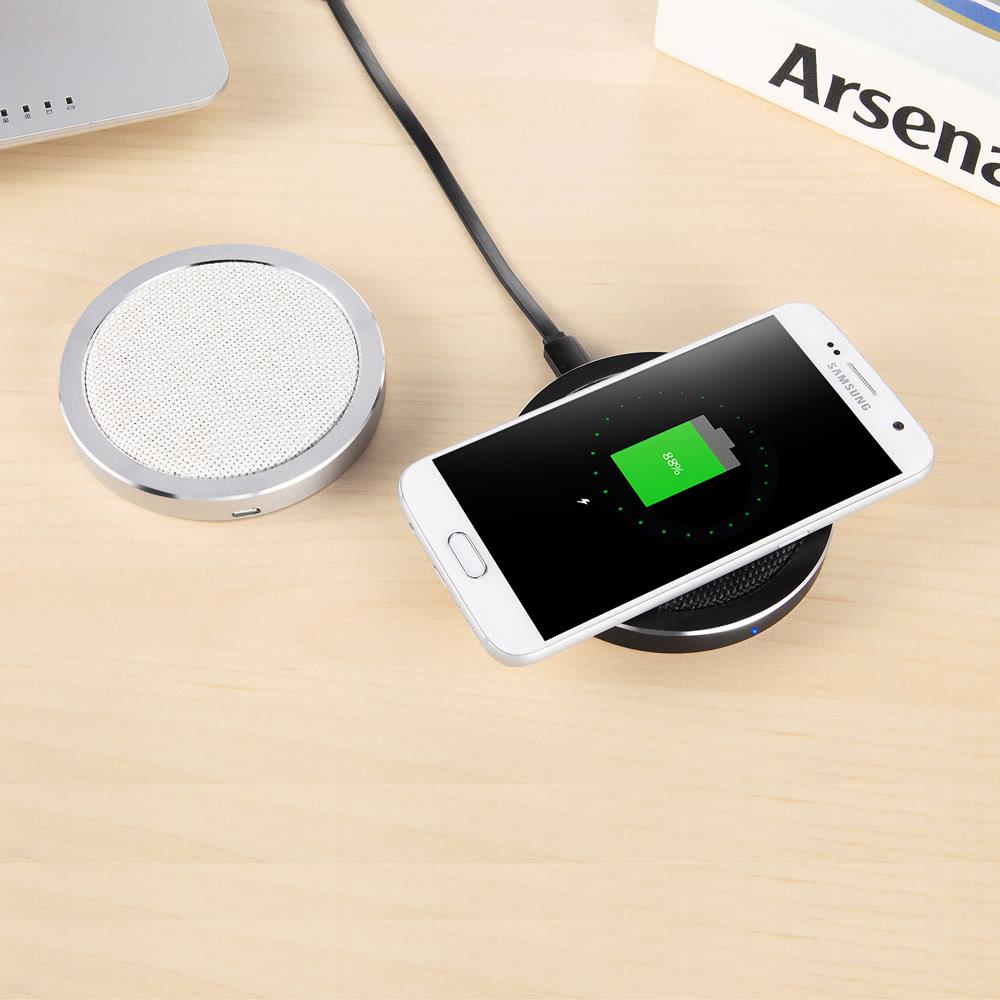 dt 518 portable 5w qi chargeur sans fil station pad simple noir. Black Bedroom Furniture Sets. Home Design Ideas