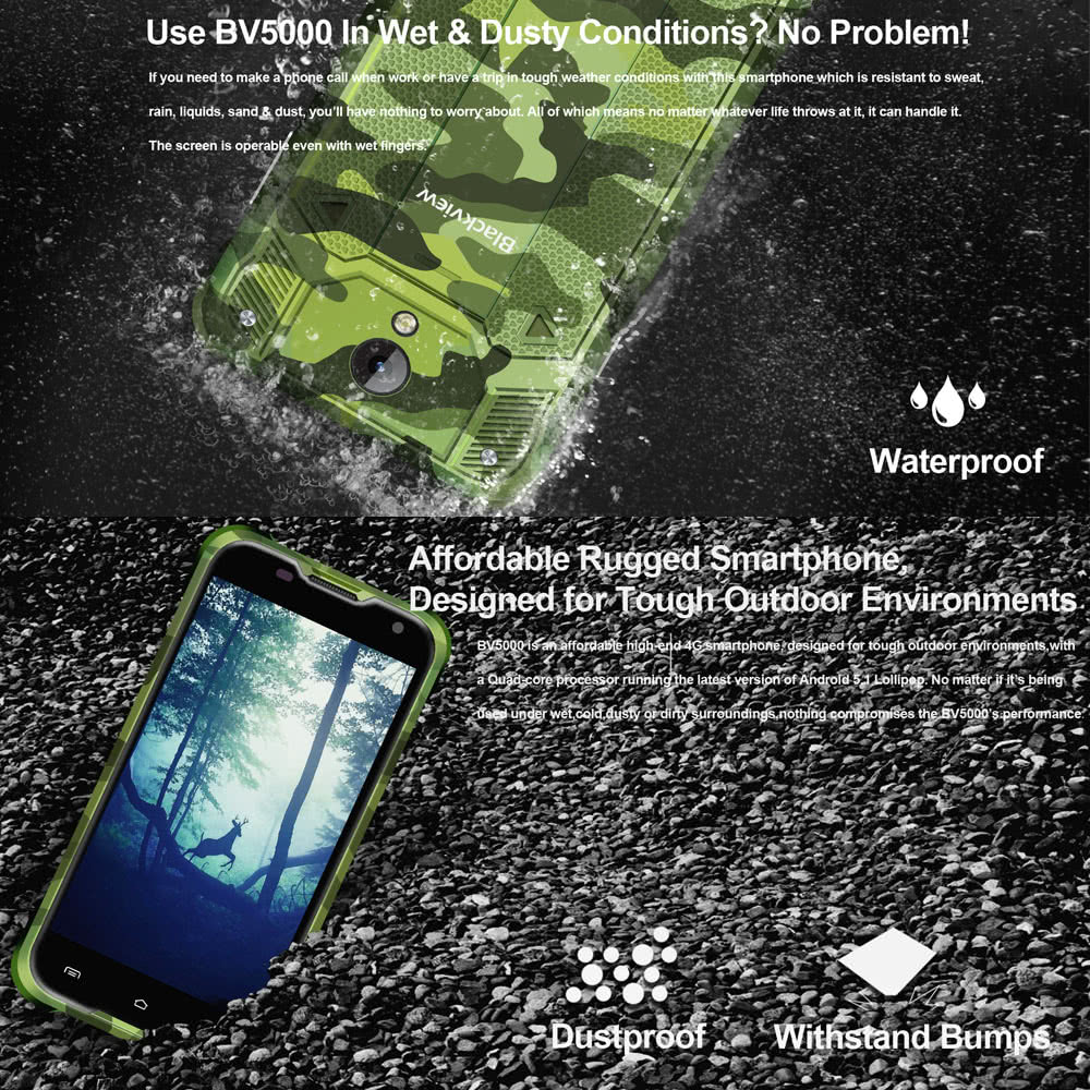Oferta smartphone Blackview BV5000 por 85 euros desde España 1 Blackview BV5000