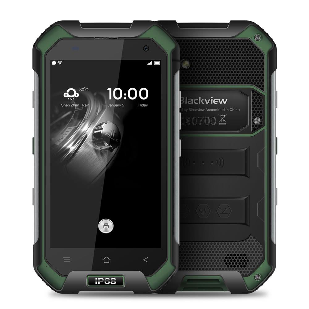 tomtop Blackview  BV6000 MTK6755 Helio P10 2.0GHz 8コア GREEN(グリーン)