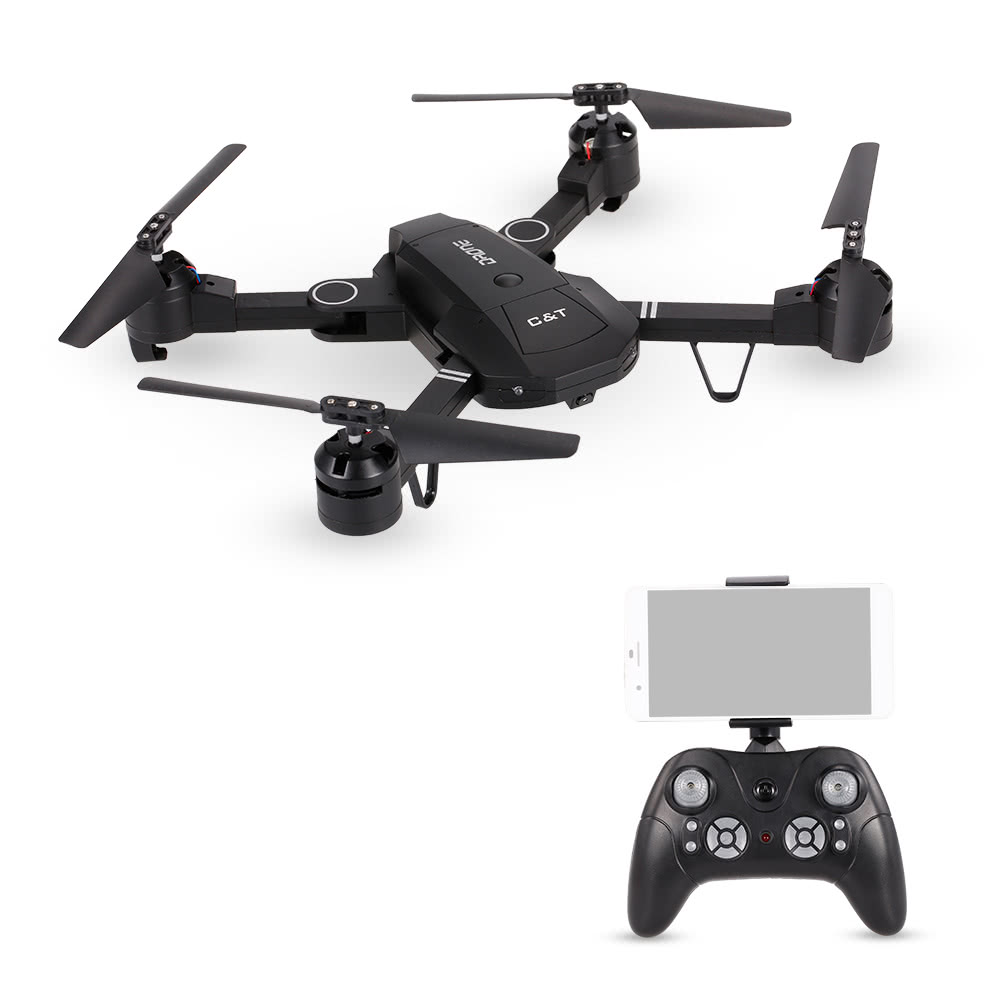 $4 OFF T3505W Foldable Selfie Drone WIFI FPV RC Quadcopter,free shipping $32.99