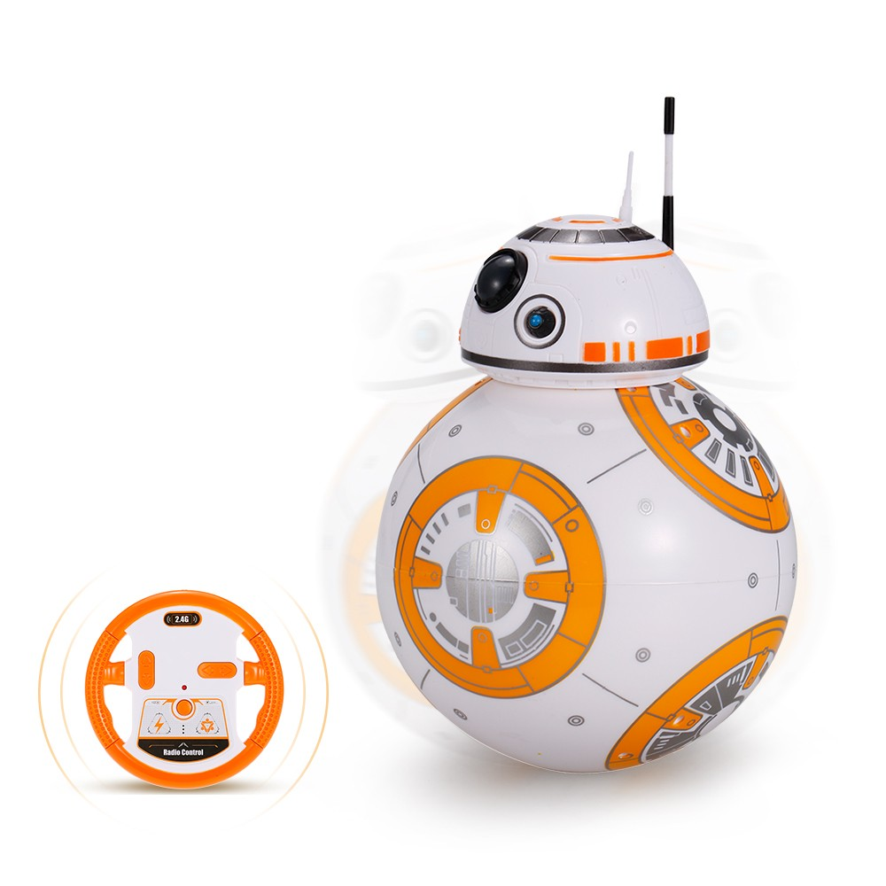 $3 OFF BB-8 2.4GHz RC Robot Ball Toy Kids Gift,shipping from DE Warehouse $15.99