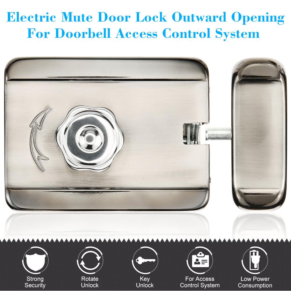 Electric Mute Door Lock Outward Opening For Doorbell