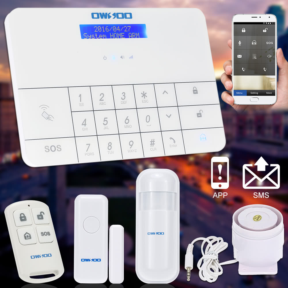 OWSOO Wireless LCD GSM   SMS Home House Security Burglar Sale Online  Shopping eu   Tomtop com. OWSOO Wireless LCD GSM   SMS Home House Security Burglar Sale