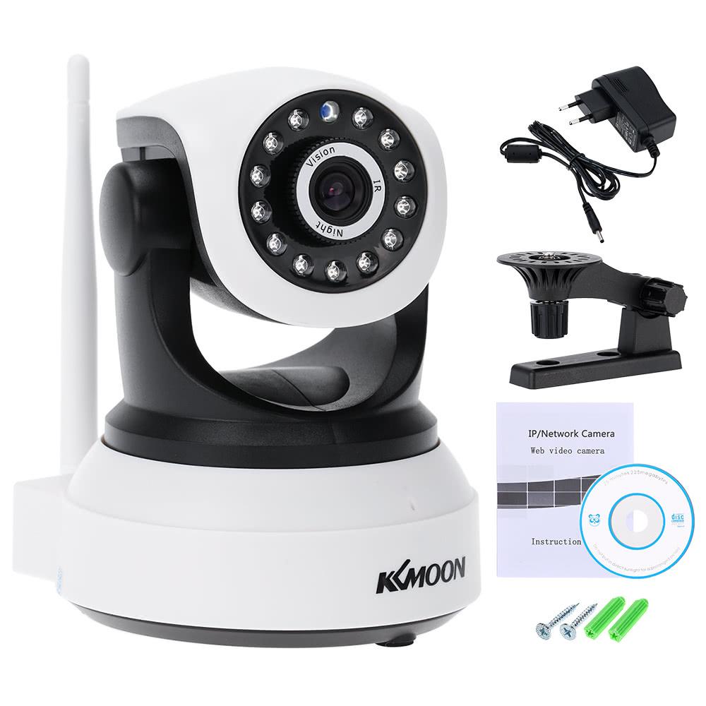 eu KKmoon Wireless Wifi 720P HD H.264 P2P 1MP AP IP Network Home ...