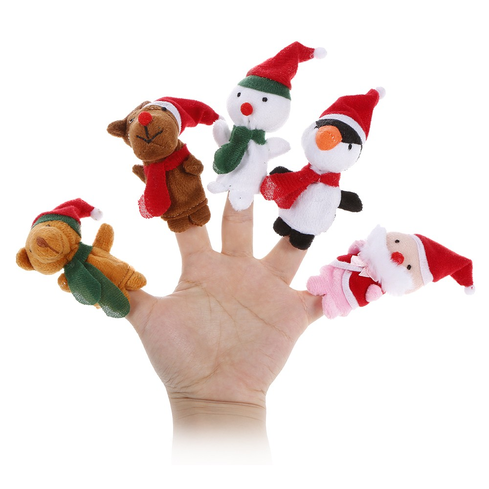 Cartoon Christmas Toys : Off pcs cartoon christmas toys finger doll free
