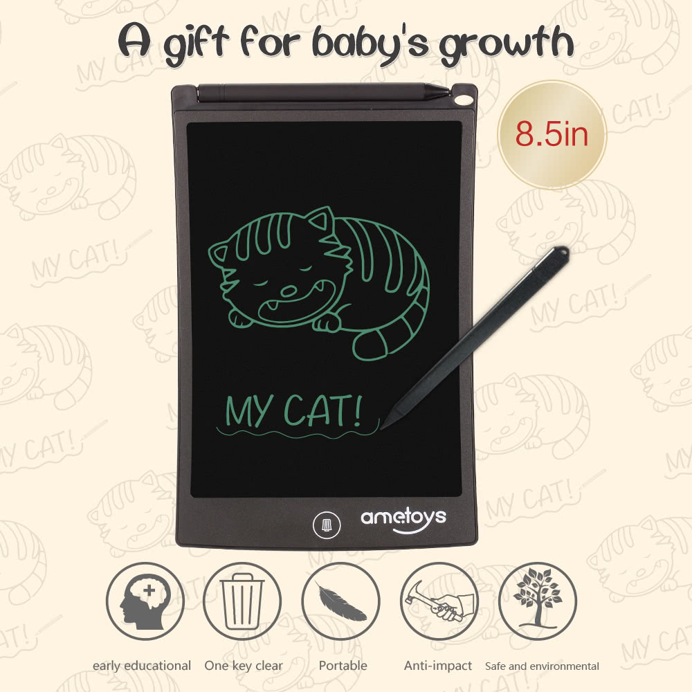 $5 OFF Ametoys 8.5-Inch LCD Writing Tablet,free shipping $8.99