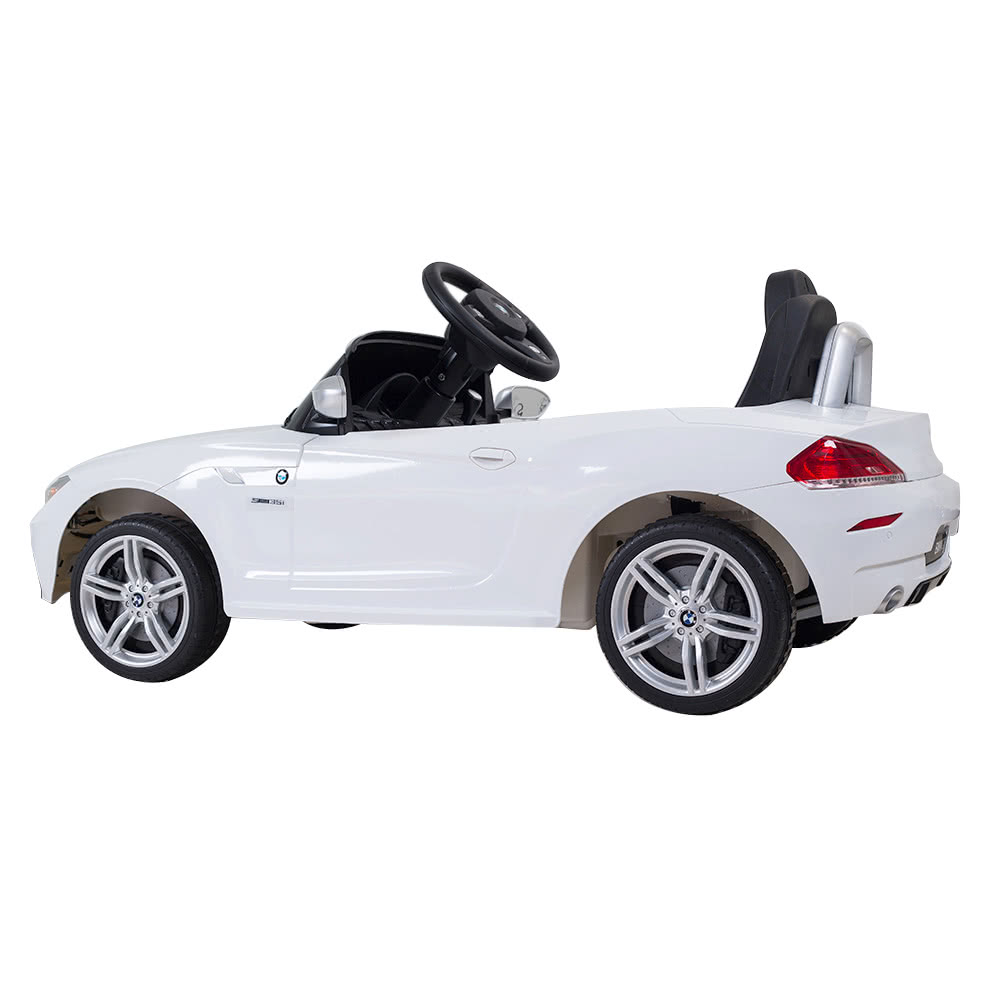 rastar kids 6v electric ride on toy car bmw z4 four wheel vehicle parent remote control white