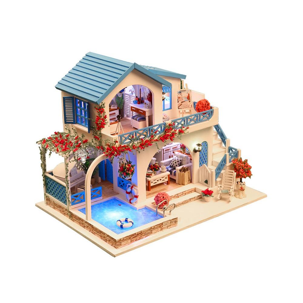 $8.8 OFF DIY House Miniature Kit Dollhouse,free shipping $35.19