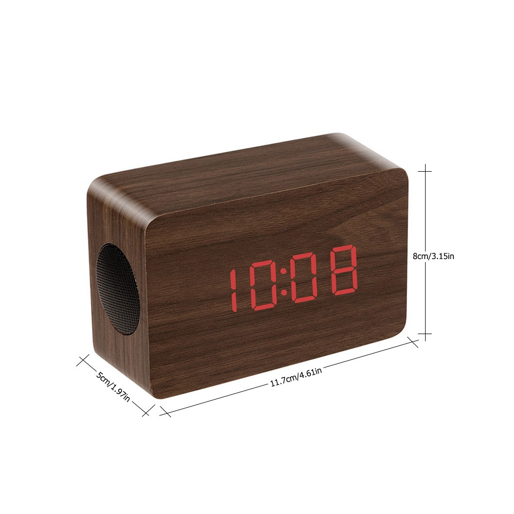$3 OFF Wooden Wireless Bluetooth Speaker Brown,free shipping $21.49
