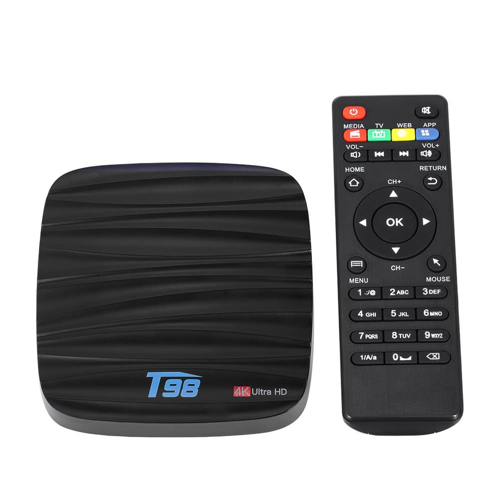 T98 Smart Android 7.1 TV Box RK3328 Quad Core 4K VP9 H.265 USB3.0 2GB / 16GB Mini PC DLNA WiFi LAN Bluetooth 4.0 HD Media Player US Plug