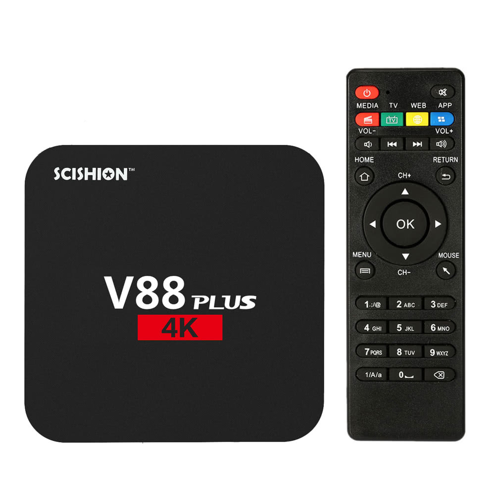$4.5 Off V88 Plus Smart Android 6.0 TV Box RK3229 2G / 8G UK Plug,limited offer $23.49