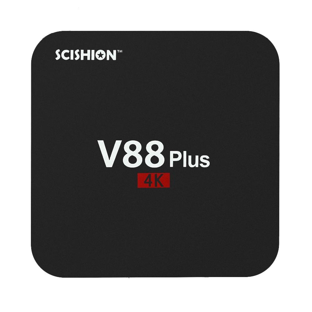 SCISHION V88 Plus Smart Android 5.1 TV Box RK3229 Quad Core KODI 16.1 XBMC UHD 4K HDMI 2G / 8G Mini PC WiFi H.265 DLNA AirPlay Miracast HD Media Player EU Plug