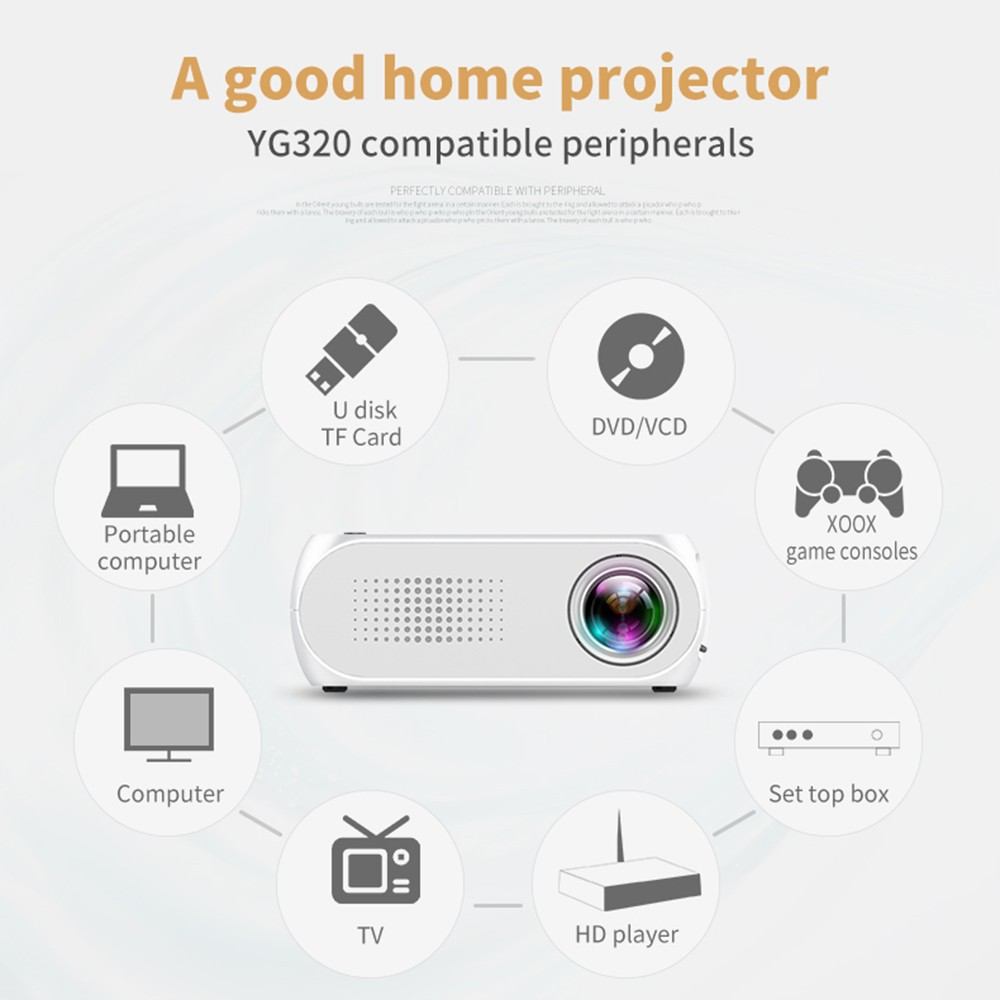 $3 OFF Home LED Mini Portable Projector 1080P,free shipping $39.99