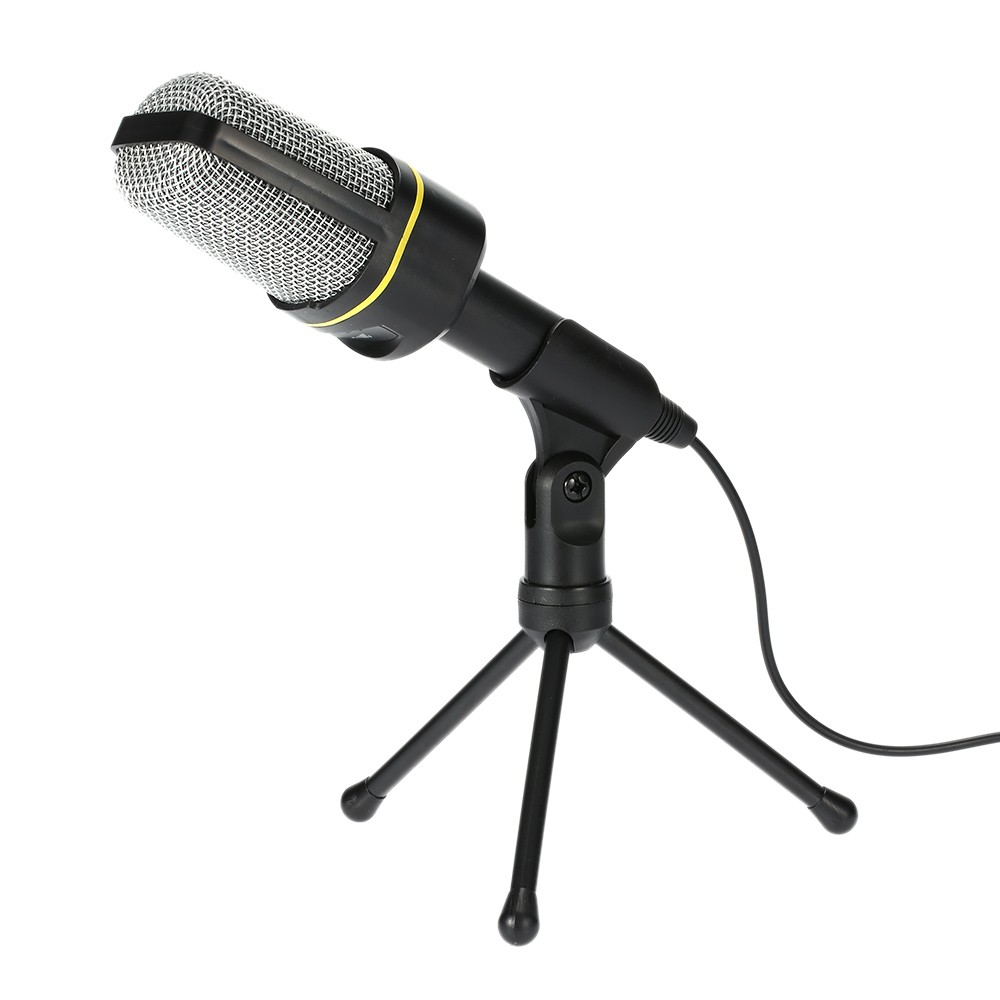 microphone de bureau avec tr pied microphone de podcast studio noir. Black Bedroom Furniture Sets. Home Design Ideas
