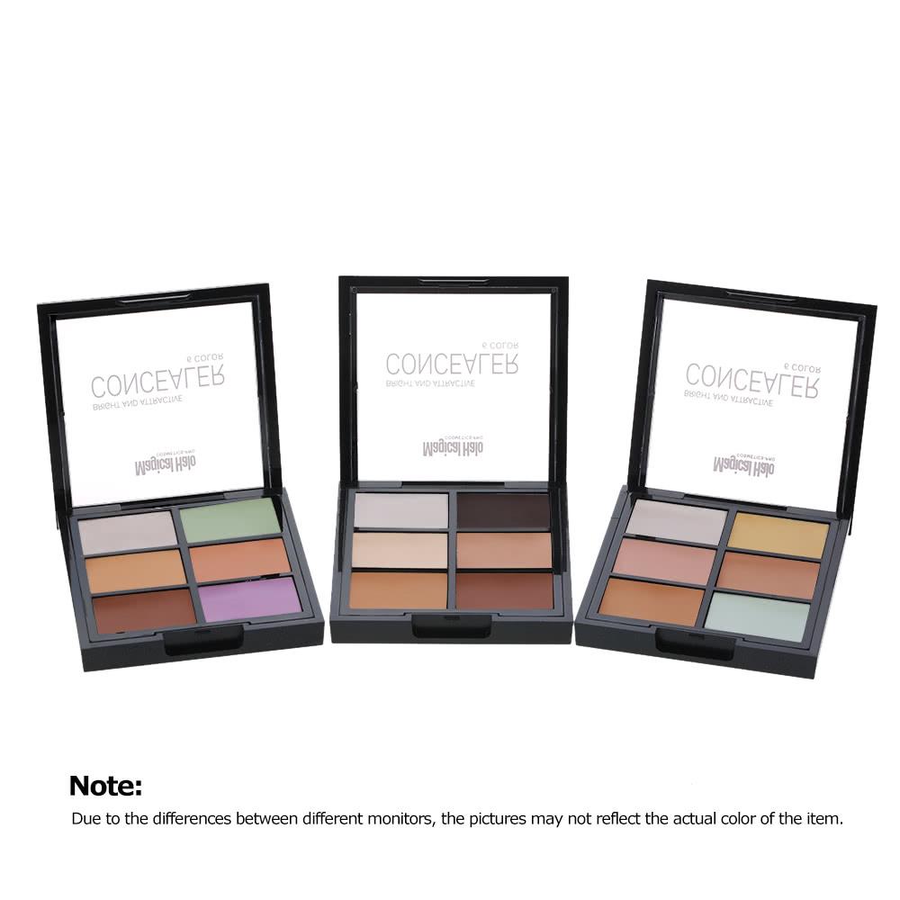 magische halo 6 farben contouring concealer sahne palette kit 3. Black Bedroom Furniture Sets. Home Design Ideas