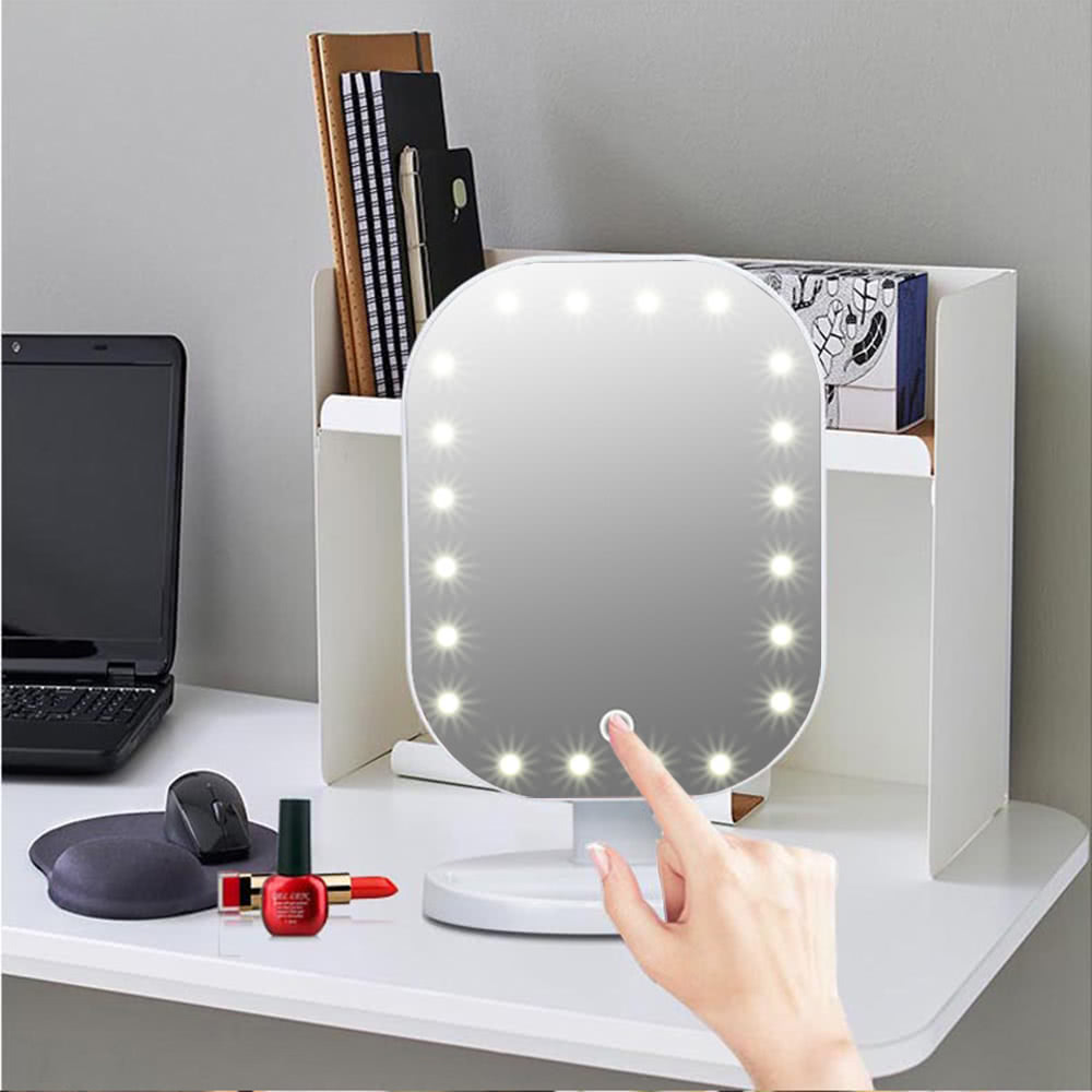 fashion high quality 20 led light lady girl beauty cosmetic square vanity desk stand makeup. Black Bedroom Furniture Sets. Home Design Ideas