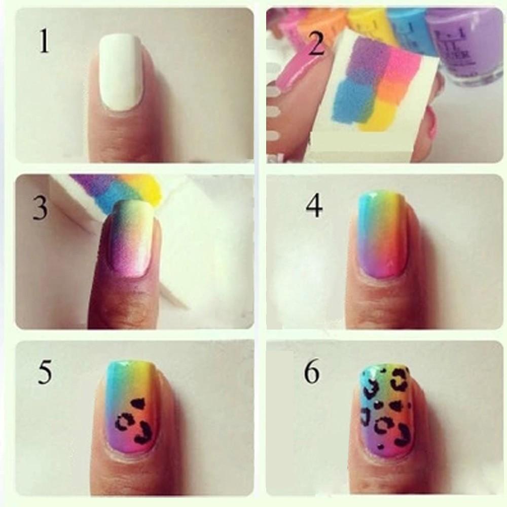 Как делать красивые ногтей