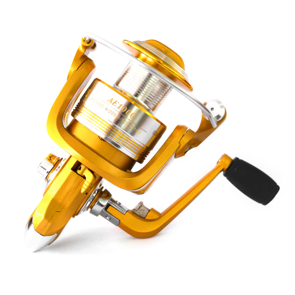 12+1BB Ball Bearings 5.2:1 Lightweight Spinning Fishing Reel Tackle Aluminum Spool Foldable Handle Reels Fishing Tackle 1000 3000 4000 5000 6000 Series