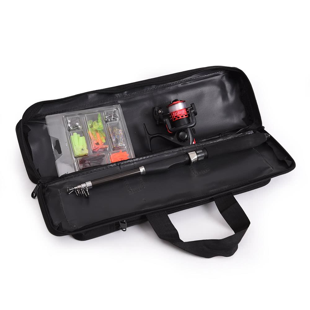 Lixada portable fishing bag case fishing rod and reel for Fishing rod and reel case