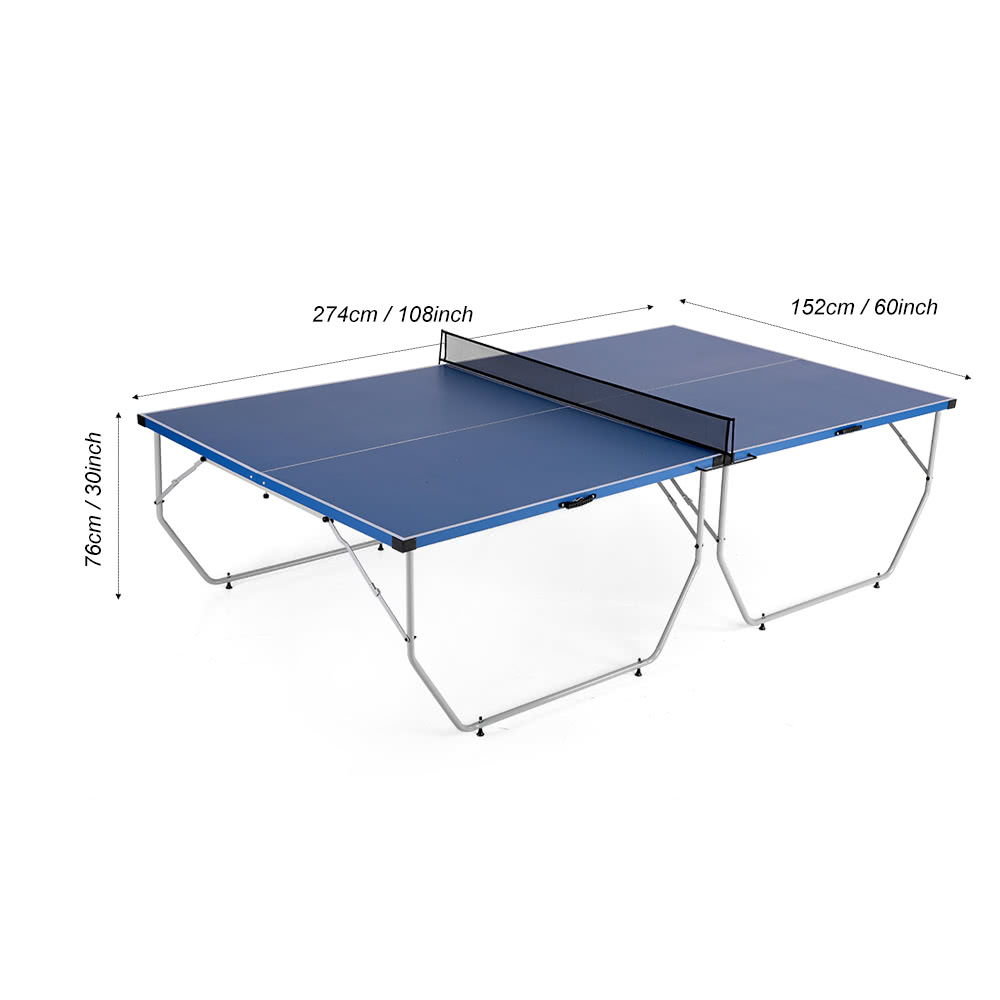 tableau lixada table pliante tennis de table de ping pong blau tomtop