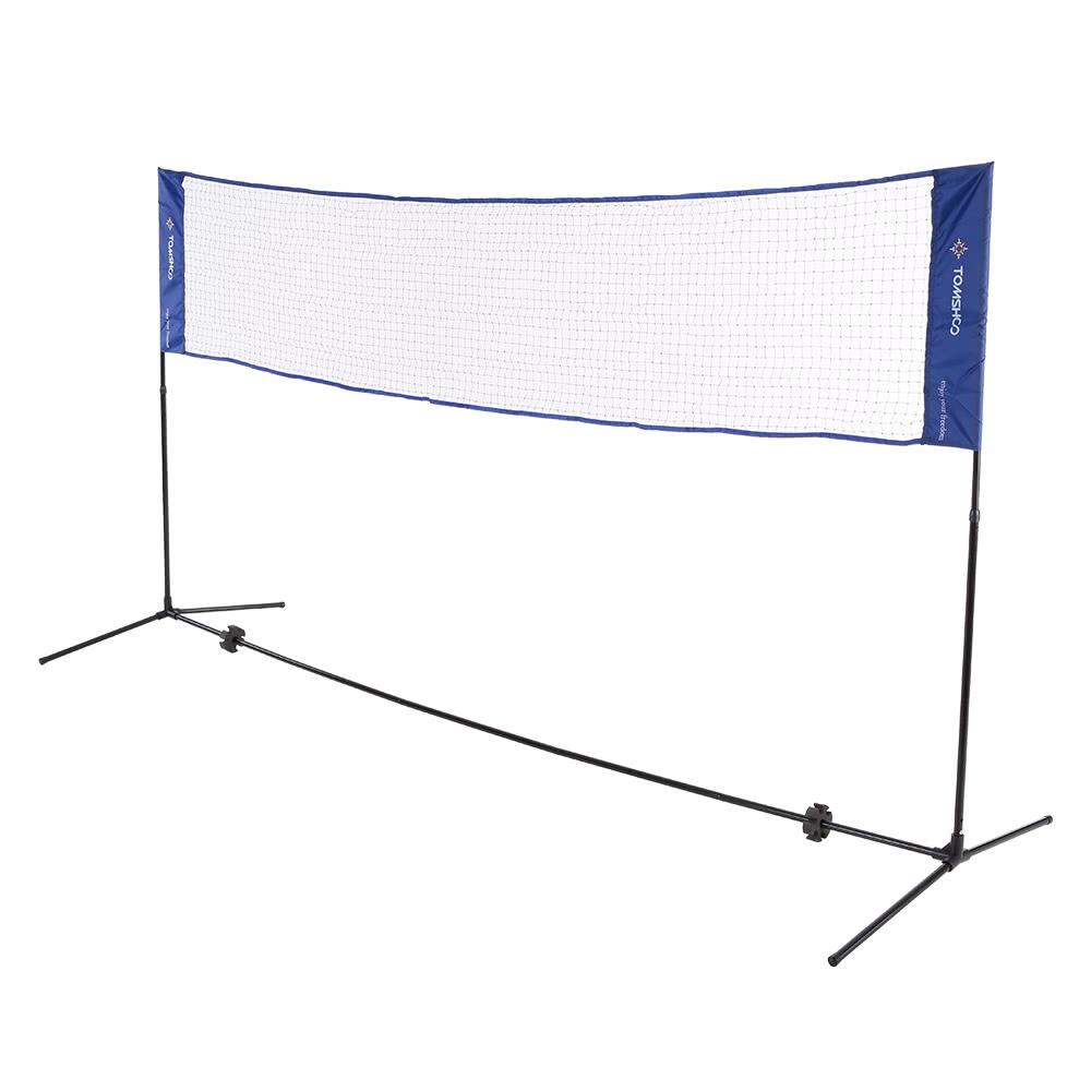 TOMSHOO Portable Quickstart Tennis Badminton Net System Indoor ...