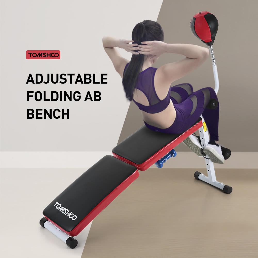 TOMSHOO Adjustable Folding Decline AB Bench Foldable Sit Up Sales Online    Tomtop.com