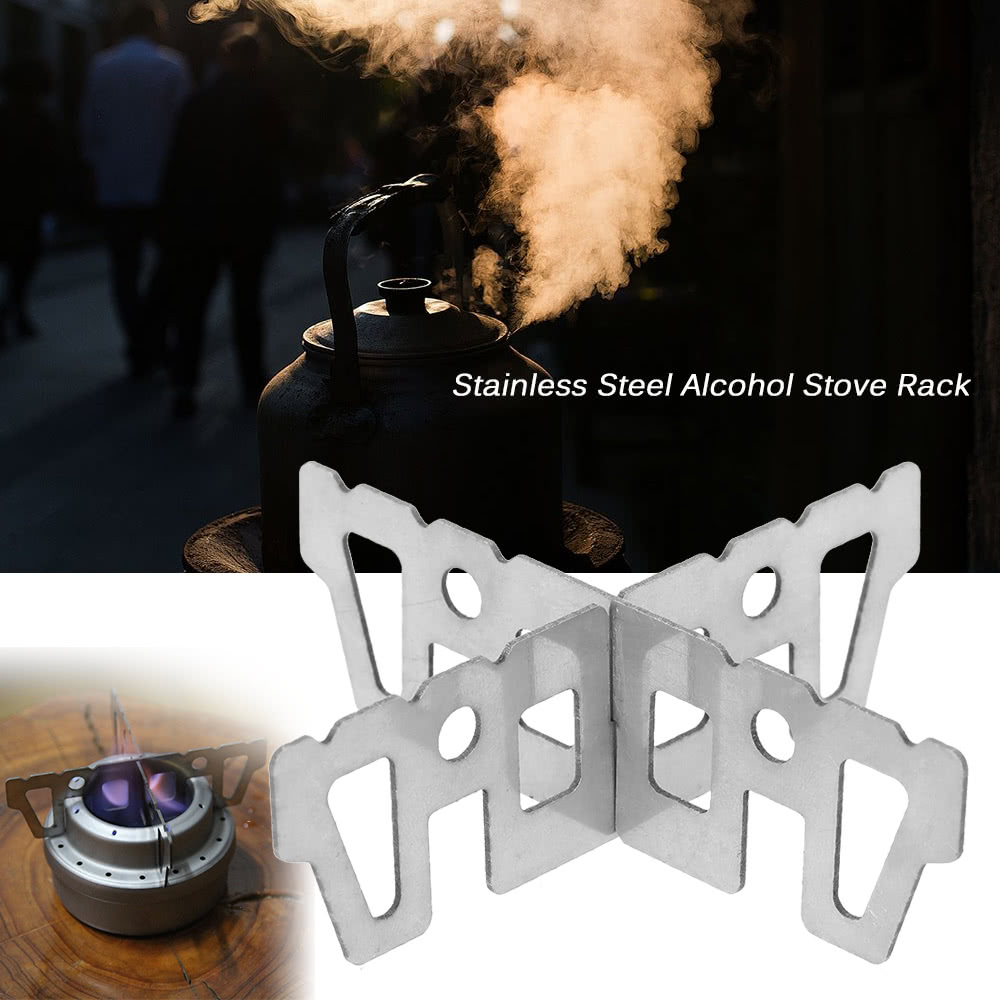 Stainless Steel Alcohol Stove Rack Cross Stand Outdoor Camping ...