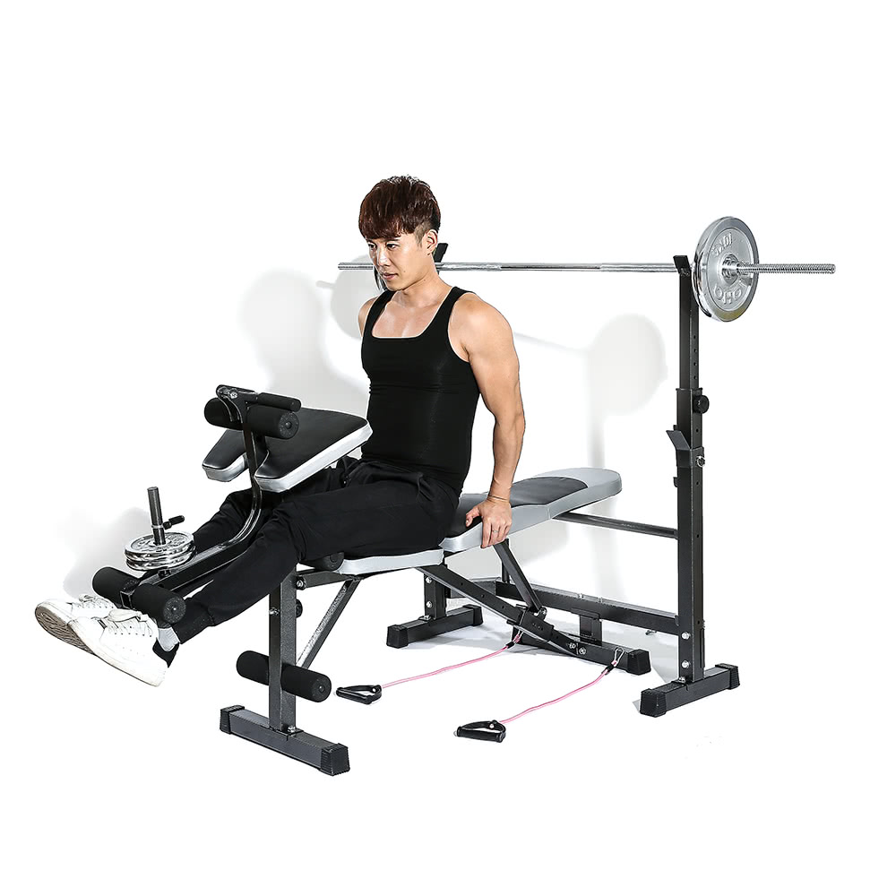 1 * Weight Bench 1 * Rack 2 * Resistance Band