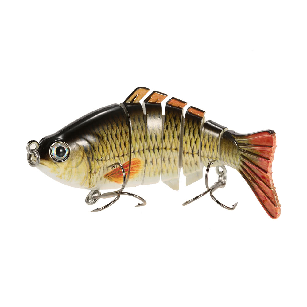 Lixada 10cm 4 bionic multi jointed fishing lure sun for Best fishing lures for walleye