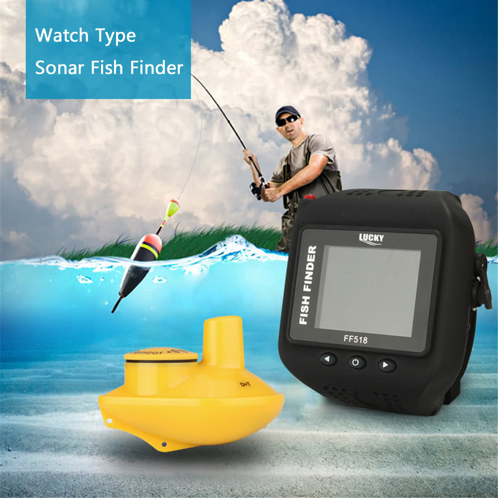 Lucky watch type sonar fish finder wireless fishfinder for Lucky fish finder
