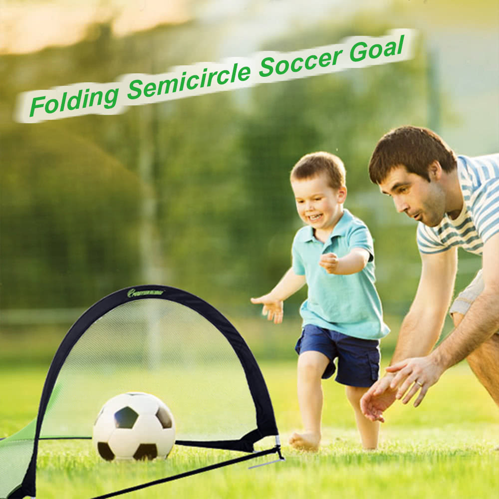 48 30 30in semicircle portable folding soccer goal child pop up