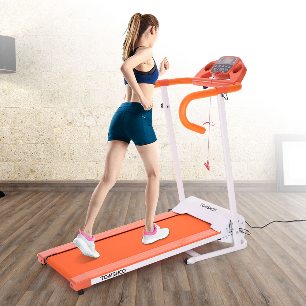$50 Off TOMSHOO 500W Motorized Folding Electric Treadmill,limited offer $99.99