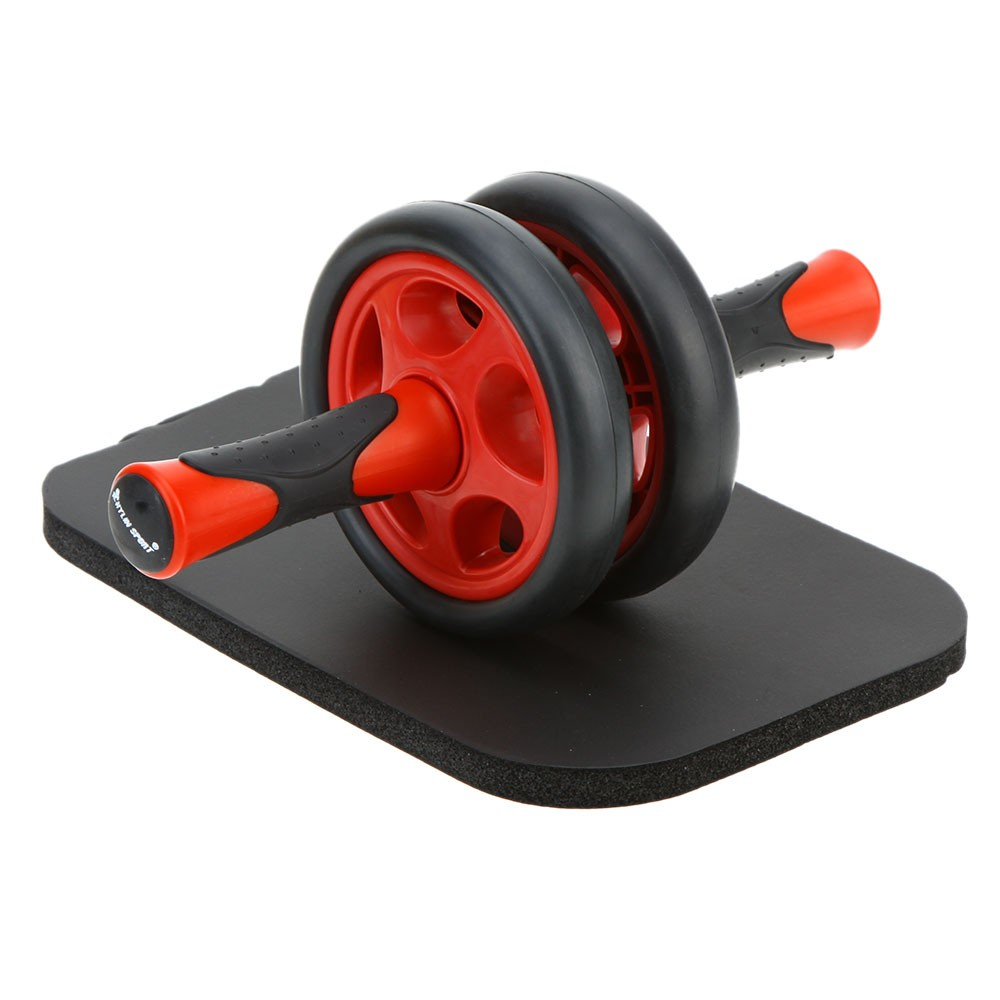 no noise abdominal wheel ab roller with mat for exercise. Black Bedroom Furniture Sets. Home Design Ideas