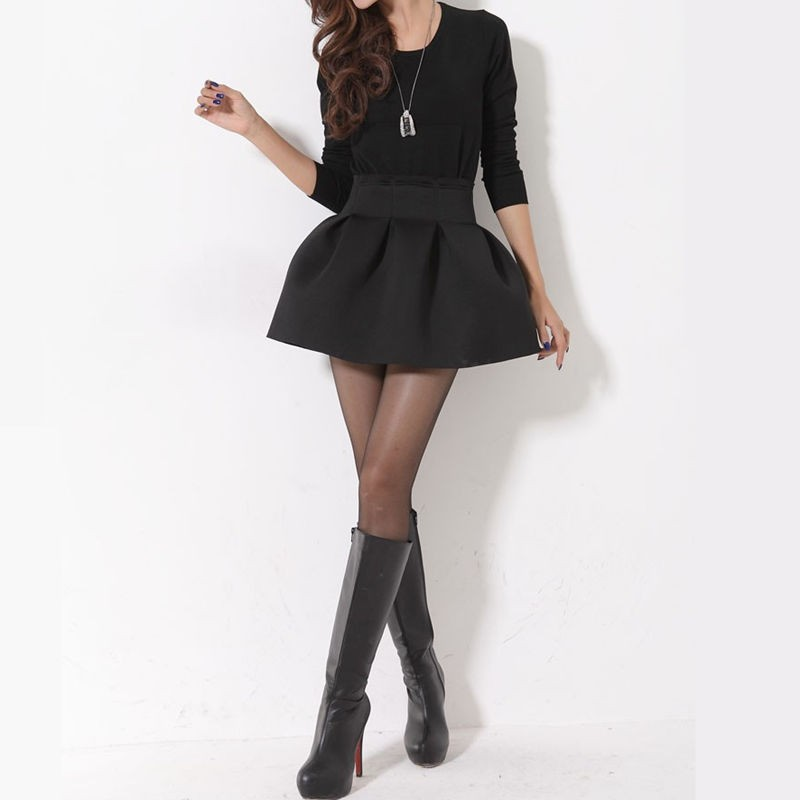 Only US$6.99, one size black New Korean Women Girl Mini Skirt Ball ...