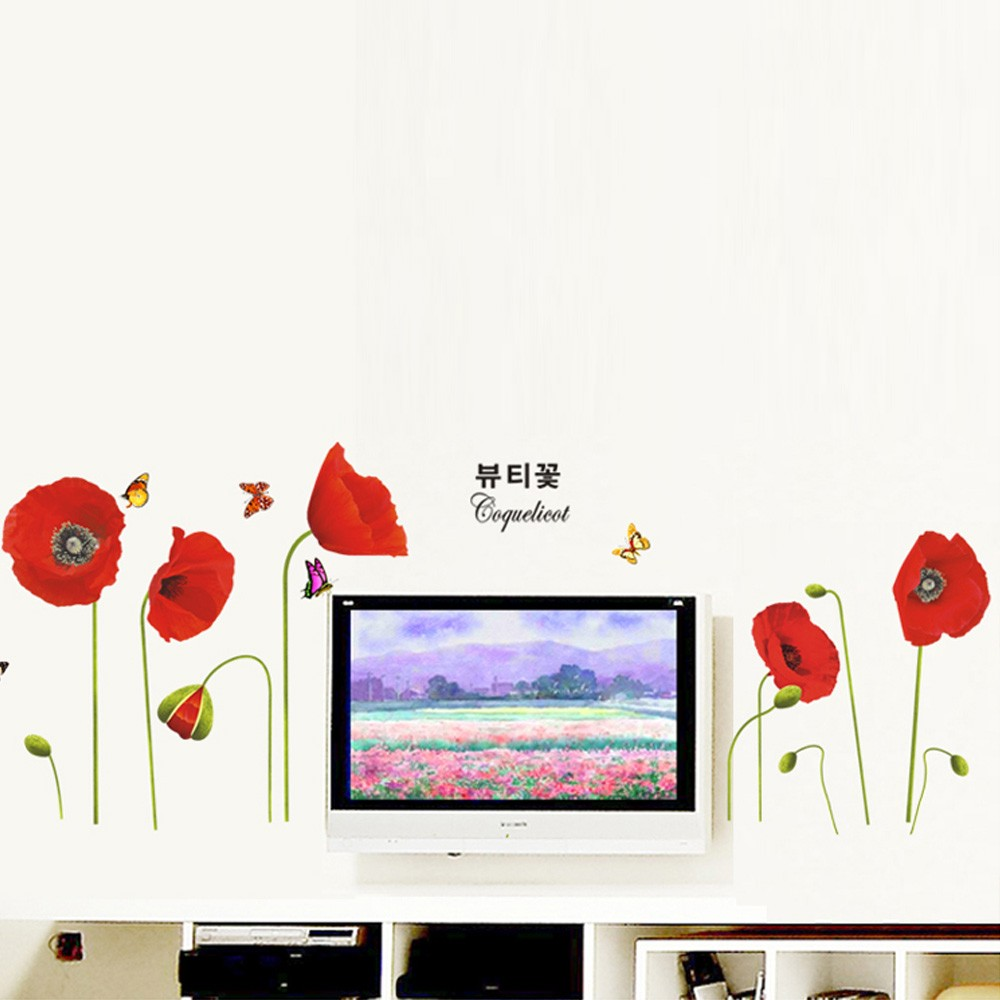 Flower Wall Decals Flwall Stickers For Your Home Or Office