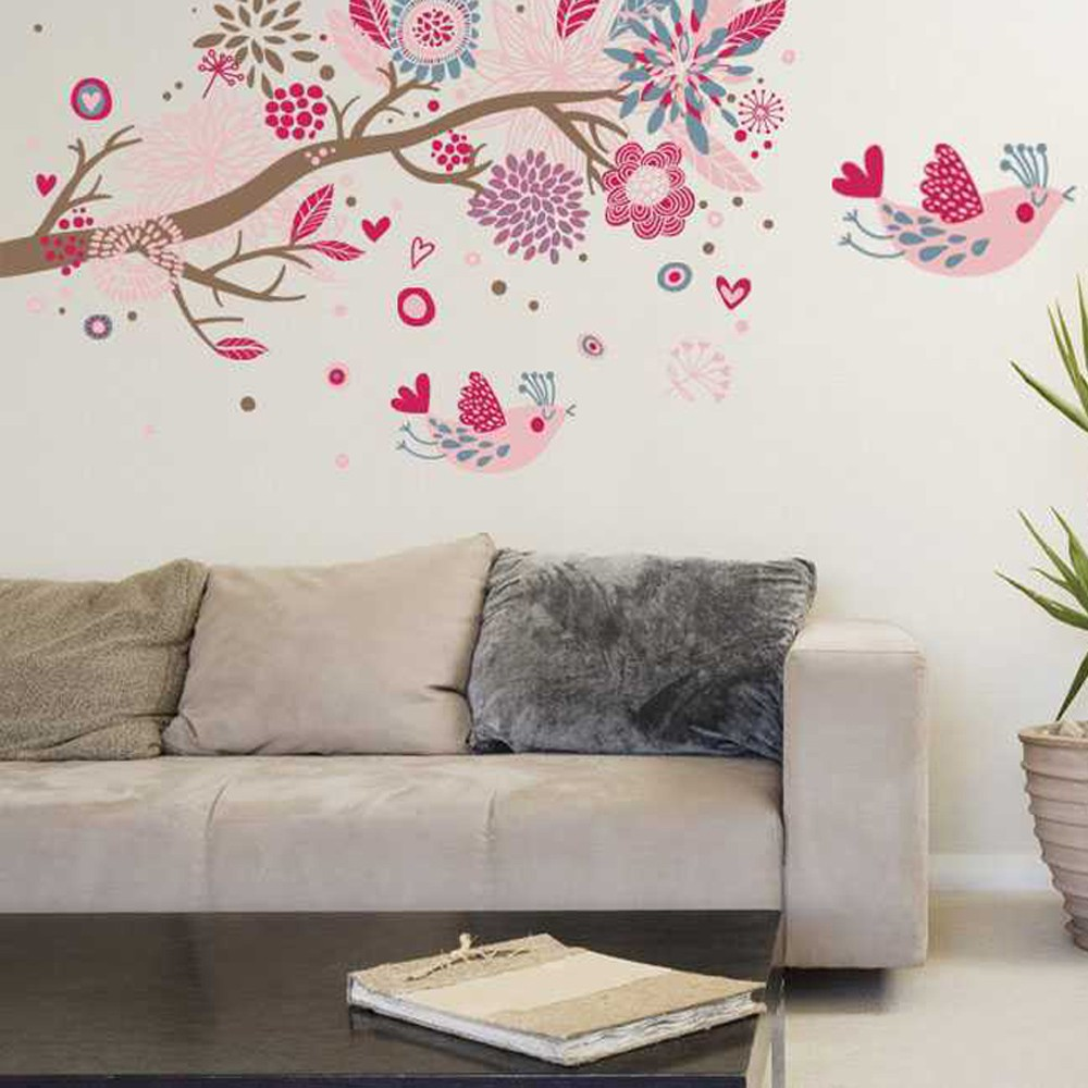bohemia flowers bird removable wall stickers art decals mural customer reviews