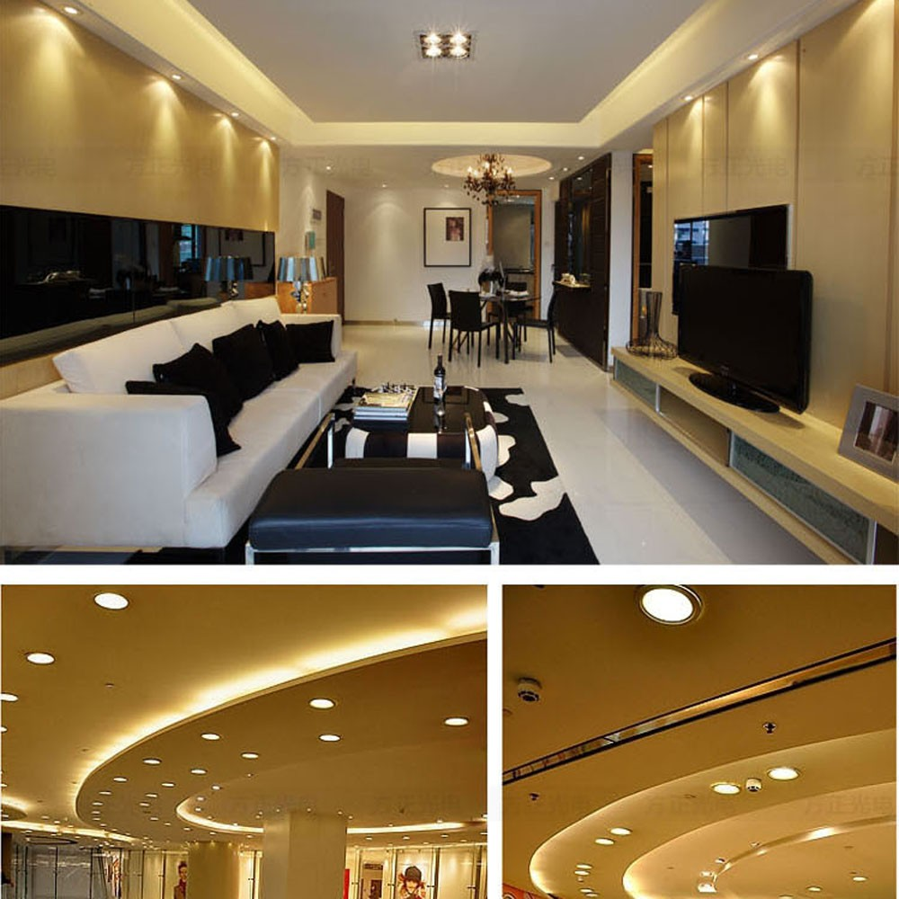 Living Room Recessed Lighting Ideas: 4W Square LED Recessed Ceiling Panel Light Down Lamp Ultra