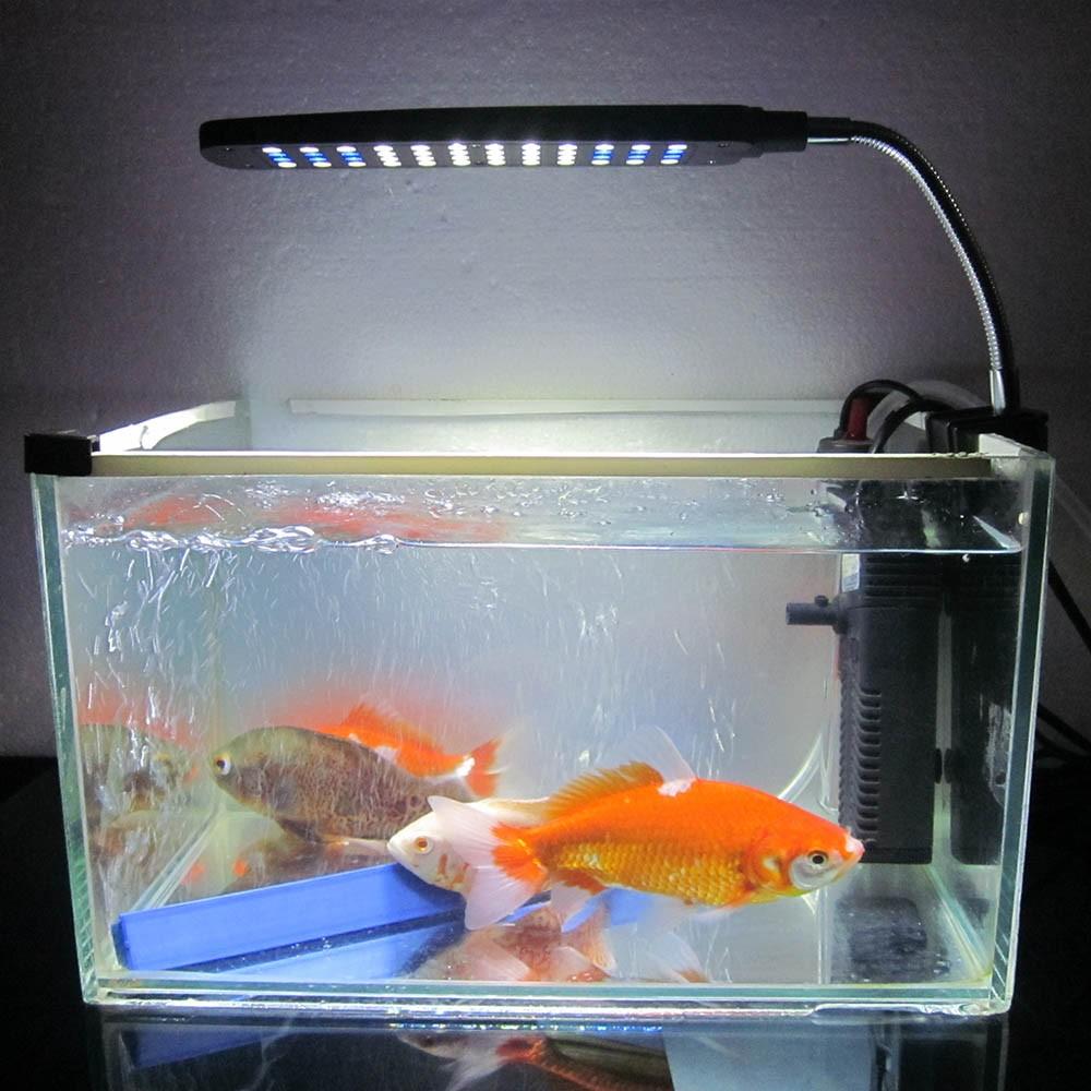 Aquarium fish tank water plant 48 leds 3w clip light for Above water fish tank