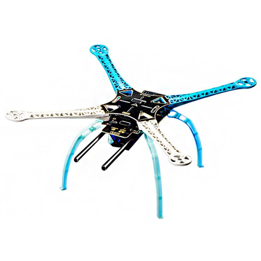 new s500 pcb carbon fiber four axis qudcopter frame bluewhite high landing gear for dji f450 upgrade version fpv qudcopter frame s500 qudcopter framef550