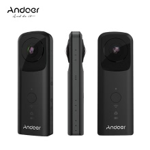 Andoer A360II Карманная видеокамера с разрешением 360 ° VR 1920 * 960 30fps Поддержка WiFi Dual 210 ° HD Широкоугольный объектив FishEye Panoramic Cam