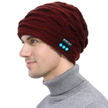 Fashion Puckery Unisex Wireless Smart Bluetooth Beanie Hat