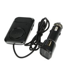 Bluetooth FM-передатчик громкой связи телефон вызова Автокомплект Музыкальный плеер 2.1A Автомобильное зарядное устройство