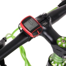 15 Functions Backlight Wireless Cycle Bicycle Bike Computer Speedometer Odometer Cycling Riding Fitness